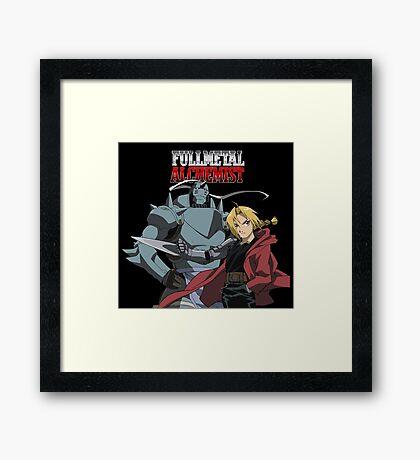 Edward Elric Alphonse Elric Fullmetal Alchemist Brotherhood Anime Framed Print