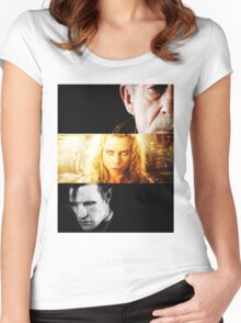 bad wolf 2 Women's Fitted Scoop T-Shirt