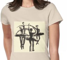 Ballet dancers - silhouettes - my scribble art Womens Fitted T-Shirt