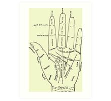 Chart of the Hand - fortune-telling Art Print