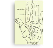 Chart of the Hand - fortune-telling Metal Print
