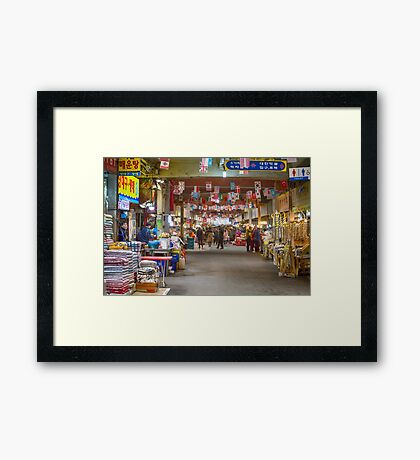 Colorful Korean Marketplace Framed Print