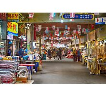 Colorful Korean Marketplace Photographic Print