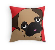 Pug 1 Throw Pillow