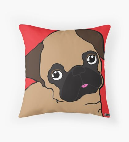 Pug 1 Throw Pillow