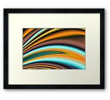 Abstract Fractal Colorways 01BR Framed Print
