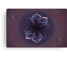 Amethyst Ornate Blossom in Soft Pink Canvas Print