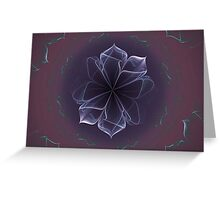 Amethyst Ornate Blossom in Soft Pink Greeting Card