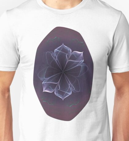 Amethyst Ornate Blossom in Soft Pink Unisex T-Shirt