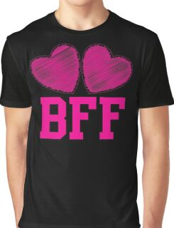BFF with cute pink hearts Best Friends forever Graphic T-Shirt
