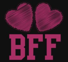 BFF with cute pink hearts Best Friends forever Kids Tee