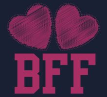 BFF with cute pink hearts Best Friends forever One Piece - Long Sleeve