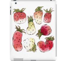 Watercolor Strawberries iPad Case/Skin