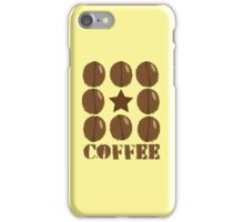 Coffee beans funky coffee design iPhone Case/Skin
