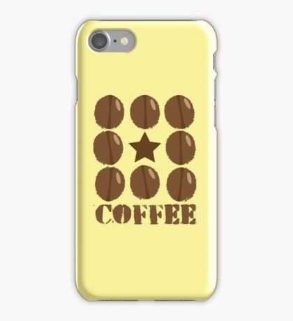 Coffee beans funky coffee design iPhone Case/Skin