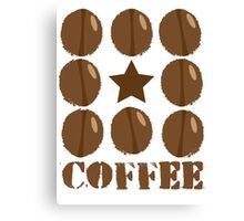 Coffee beans funky coffee design Canvas Print
