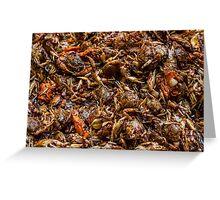 Fresh Crab Korean Market Greeting Card