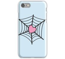 Love Heart Spider web iPhone Case/Skin