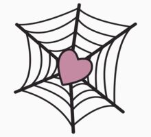 Love Heart Spider web Kids Tee