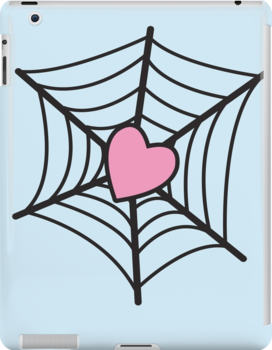 Love Heart Spider web by jazzydevil