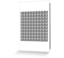 Seamless black and white star tile pattern Greeting Card