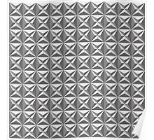Seamless black and white star tile pattern Poster