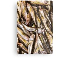 Fresh Fish Marketplace Metal Print