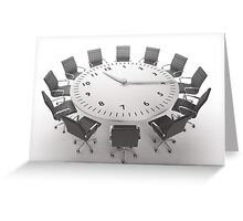 Time Up Greeting Card