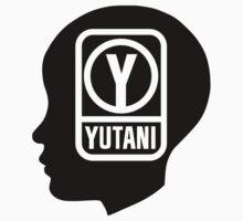 YUTANI Corporate Logo (Head version) [Black] One Piece - Short Sleeve