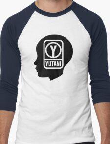YUTANI Corporate Logo (Head version) [Black] Men's Baseball ¾ T-Shirt