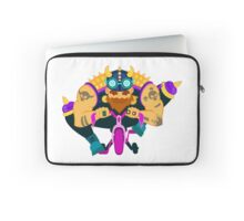 Glamourous biker on tricycle Laptop Sleeve