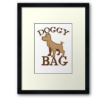Doggy bag dog dogs with cute puppy Framed Print