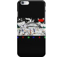 Sydney harbour and yachts abstract design iPhone Case/Skin