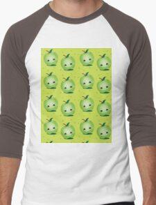 cute green Apple pattern Men's Baseball ¾ T-Shirt