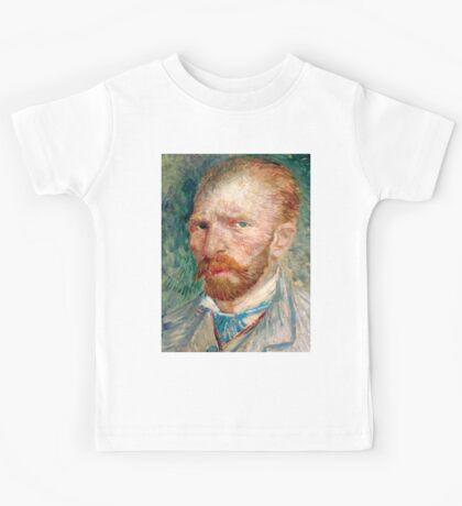 1887-Vincent van Gogh-Self-portrait-24x32 Kids Tee