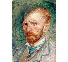 1887-Vincent van Gogh-Self-portrait-24x32 Photographic Print