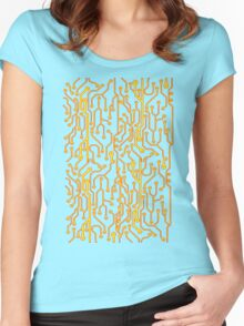 Circuit Board Women's Fitted Scoop T-Shirt