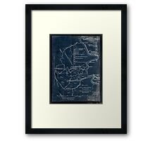 189 Map of the Loup-Piney Divide coal lands in Fayette and Raleigh cos West Virginia Inverted Framed Print