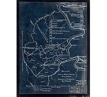 189 Map of the Loup-Piney Divide coal lands in Fayette and Raleigh cos West Virginia Inverted Photographic Print