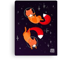 Space Foxes Canvas Print