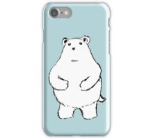 Shy Bear. iPhone Case/Skin
