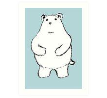 Shy Bear. Art Print