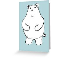 Shy Bear. Greeting Card