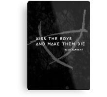 Kiss a Raven Boy Metal Print