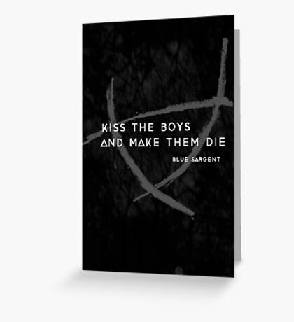 Kiss a Raven Boy Greeting Card