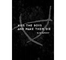 Kiss a Raven Boy Photographic Print