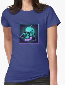 Sci-fi Skull Womens Fitted T-Shirt