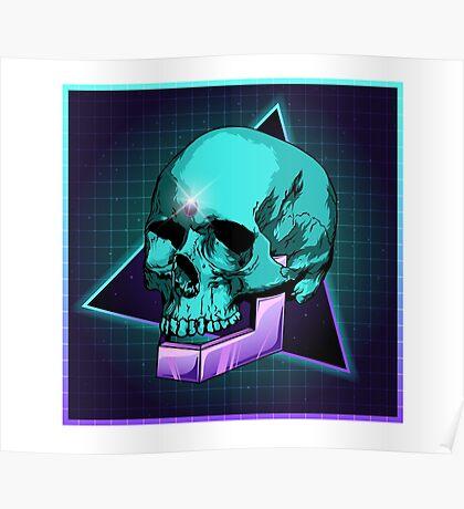 Sci-fi Skull Poster