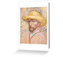1887-Vincent van Gogh-Self-portrait-32,9x40,8 Greeting Card