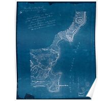 American Revolutionary War Era Maps 1750-1786 613 Map showing the west shore of the North or Hudson River Inverted Poster